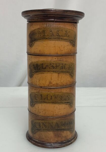 Antique Treen Turned Wood Spice Tower 81203