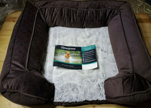 Supreme Comfort Couch Pet Bed By Beautyrest Medium Brown $62.95