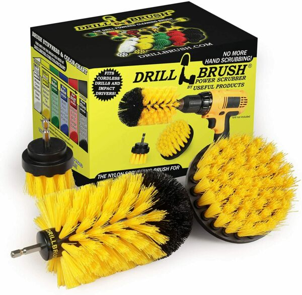 4Pcs Set Drill Brush Bathroom Tile Grout All Purpose Power Scrubber Cleaning Kit