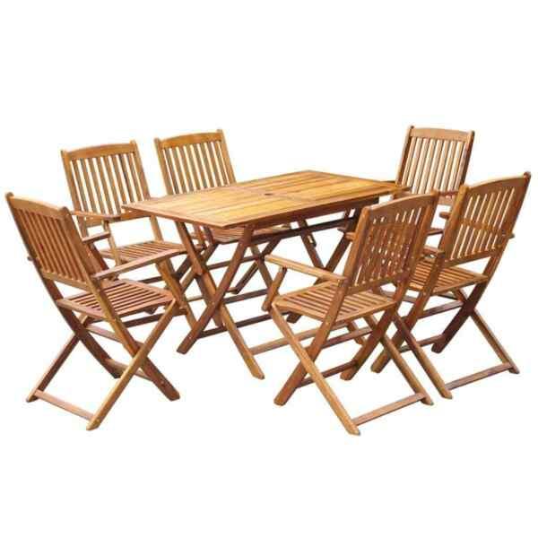 Folding Outdoor Dining Set Garden Patio Table Chairs Armchair Kitchen Furniture $603.01