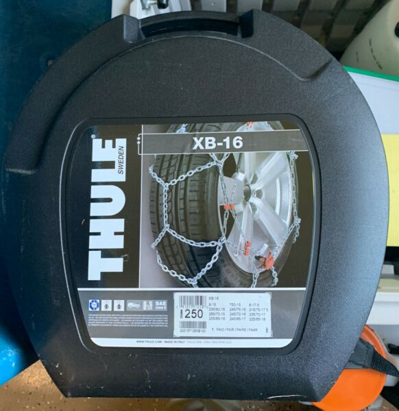 THULE XB 16 250 SUV Truck Tire Chains ONE PAIR NEW $58.00