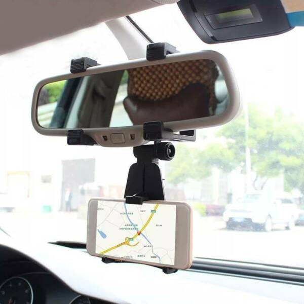 1x Car Auto Interior Rearview Mirror Phone Mount Stand Holder Cradle Accessories $10.98