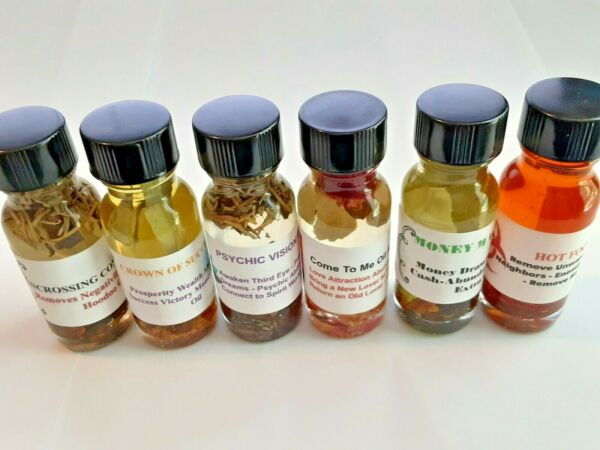 BUY ANY 3 FOR $15.95 Love Attraction Oils Fast Money Drawing Oils FREE SHIP $15.95