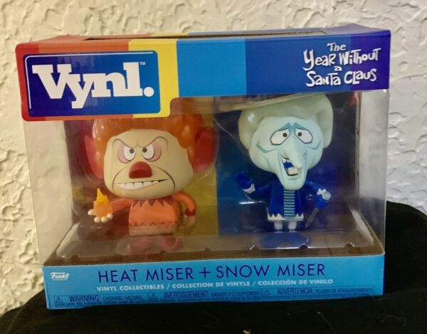 Funko Vynl Year Without A Santa Claus Heat MiserSnow Miser Figures New In Box