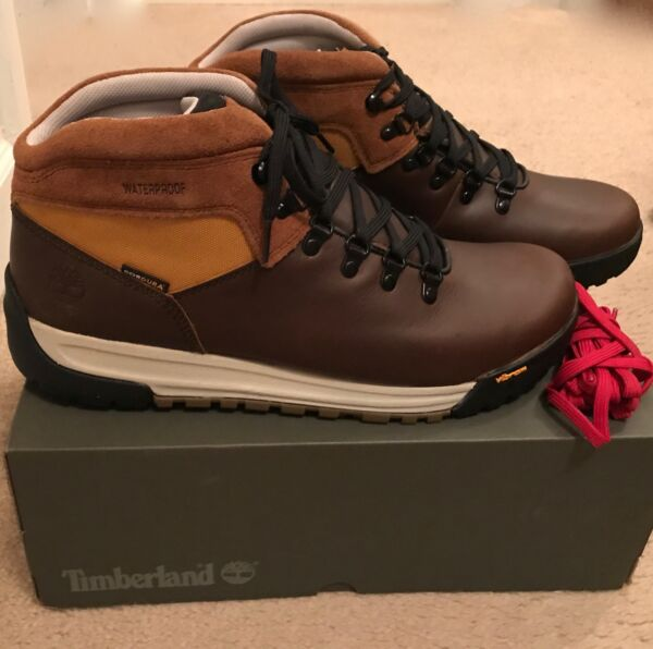 TIMBERLAND FOR JCREW GT SCRAMBLE HIKING BOOTS SIZE 9.5M BROWN J9290 $104.99