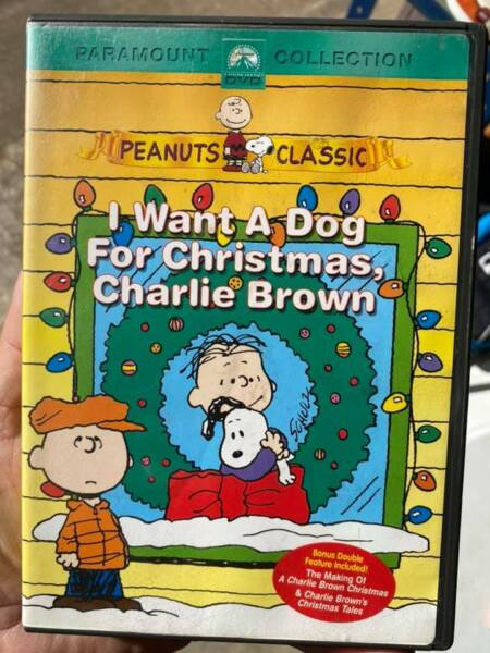 I Want a Dog For Christmas Charlie Brown DVD $7.99