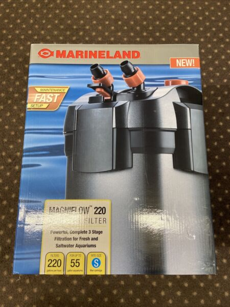 Marineland Magniflow Canister 220 for Aquarium Up to 55 Gal NEW FREE SHIPPING $89.95
