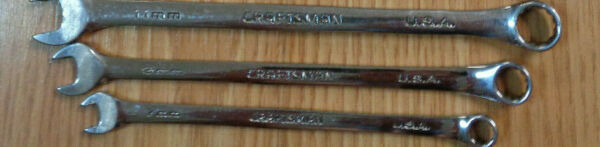 PICK SIZE gt;gt;gt; USA CRAFTSMAN PROFESSIONAL METRIC WRENCH Full Polish Combination