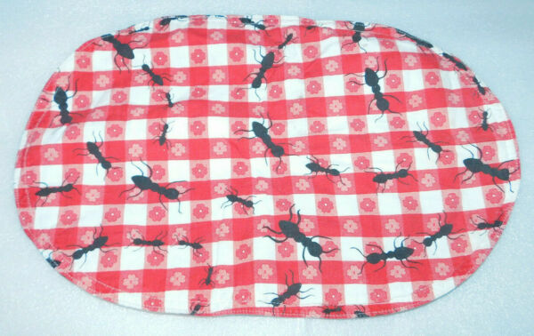 Red Checker Picnic Blanket Print Ants Cloth Placemats Set 4 Kitchen Table 17x11