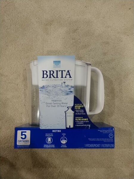 Brita 5 Cup BPA Free Water Filtration Pitcher with 1 Standard Filter Unopened
