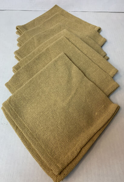 Park Designs Burlap Napkins Set of 6 New 17 x 17 Farmhouse Rustic