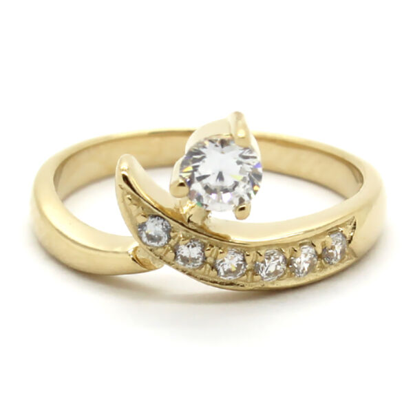 Gift Under $10 Adjustable Solitaire Toe Ring with Channel Set Diamond $24.99