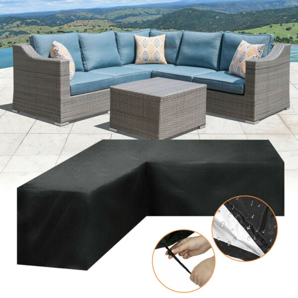Garden Furniture Covers Outdoor V or L Shape Corner Waterproof Sofa Rattan Patio $51.88