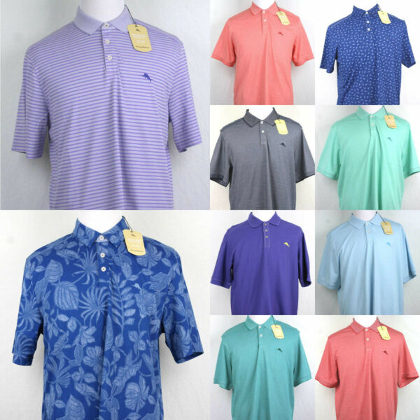 Tommy Bahama Polo Shirt Short sleeve All colors S M L XL XXL $33.99