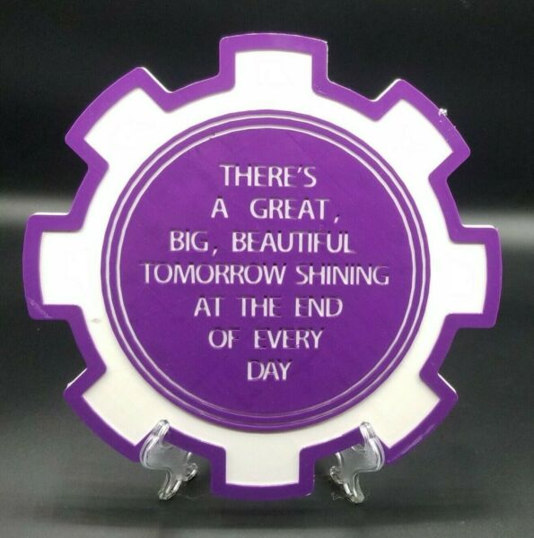 Carousel of Progress There#x27;s A Great Big Beautiful Tomorrow Inspired Plaque
