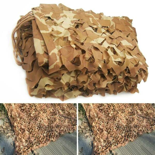 Woodland Camouflage Netting Military Camo Hunting Cover Net Backing Camping New