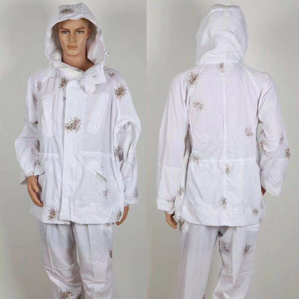 Hunting Clothes White Snow Ghillie Suits Camouflage Clothing Jacket Pants Set