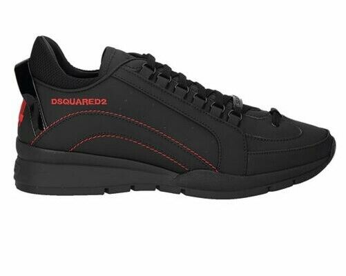 Dsquared2 551 Sneakers Snm0505 M002 Leather Mens Trainers Black Dsquared Shoes $449.86