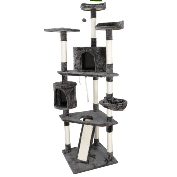 79quot; Cat Tree Condo Tower Play House with Perches Cat Pet Furniture Activity $90.99