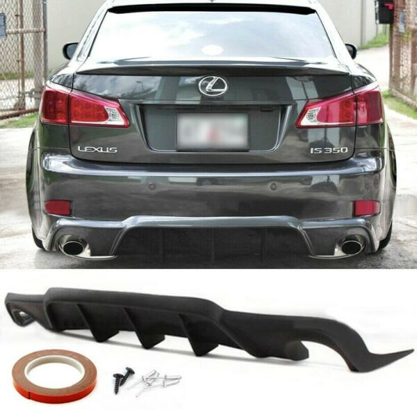WD Style Polyurethane Rear Bumper Diffuser Lip Fits 2006 2012 Lexus IS250 IS350