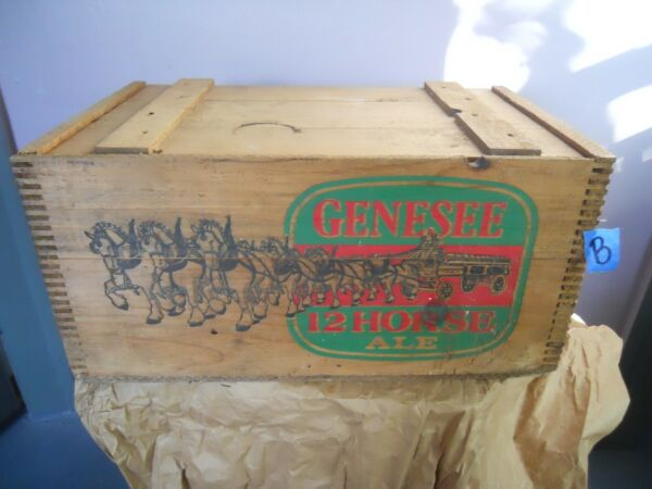 Vintage Wood Box Crate beer advertising Genesee 12 House Ale #B