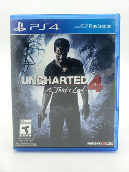 PS4 Uncharted 4: A Thief#x27;s End Naughty Dog Rated T Problem Solving Games Used C $24.99