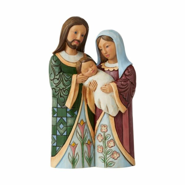 Jim Shore Heartwood Creek Holy Family Christmas Figurine Blessed with a Savior