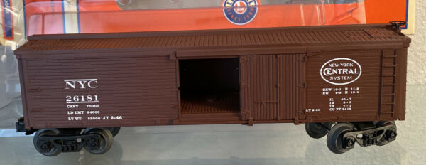 ✅LIONEL 26181 NEW YORK CENTRAL WOOD SIDED REEFER BOX CAR $19.00