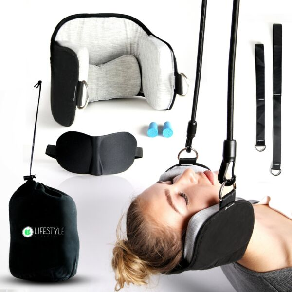 Hammock For Neck Pain Relief Support Massager Cervical Traction Device Stretcher $7.00