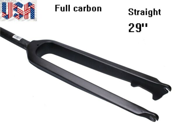 Full Carbon Bicycle Forks MTB Road XC Bike Rigid Straight Fork 1 1 8quot; 28.6mm 29quot; $68.40