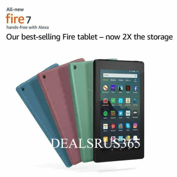 NEW Amazon Fire 7 Tablet With Alexa 7quot; Display 16 GB 9th Generation ALL COLORS