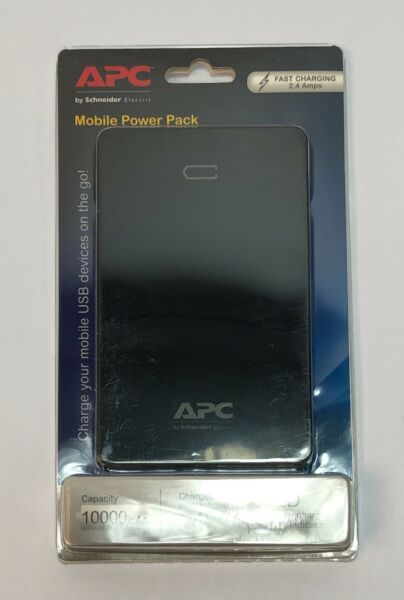 APC by Schneider Electric Mobile Power Pack 10000mAH 2 USB Ports Charges Smart $60.00