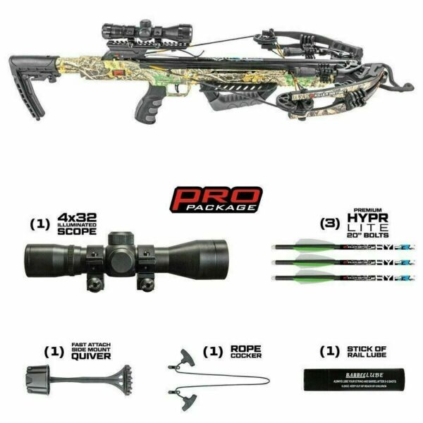 KILLER INSTINCT BURNER 415 Illuminated Scope Package FREE PADDED DLX SLING