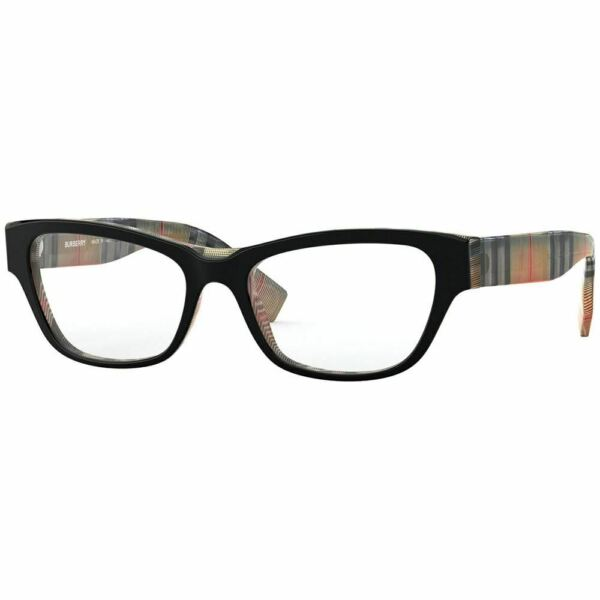 New Authentic Burberry Women#x27;s Eyeglasses Black Frame w Demo Lens BE2302F 3806 $109.99