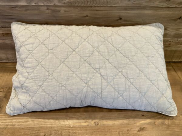 "RH Restoration Hardware 14""x17"" Throw Feather Pillow Insert And Linen Cover $24.00"
