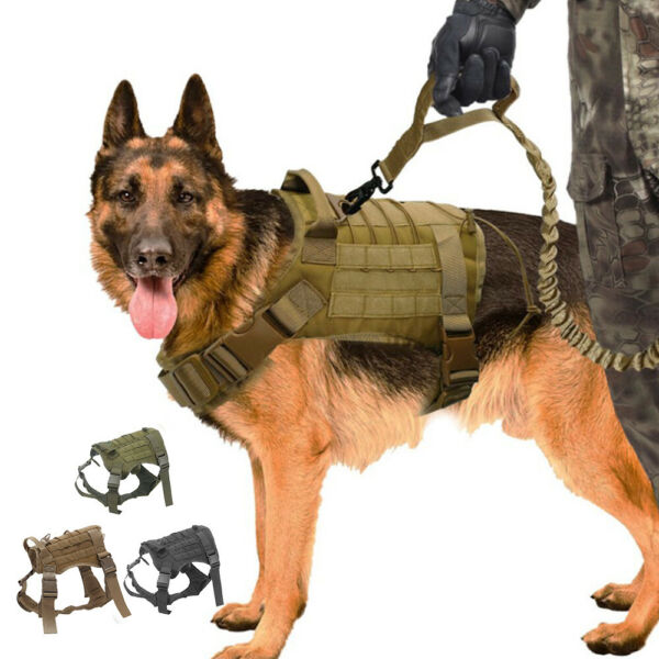 Tactical Dog Harness with Handle No pull Large Military Dog Vest US Working Dog $8.49