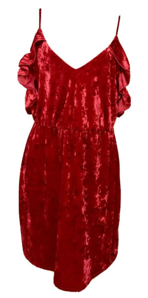 Womens Plus Dress 2X New Red Velvet 18 20 XXL Gorgeous Valentines Party NWT Deal $22.00