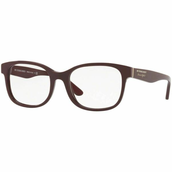 New Authentic Burberry Women#x27;s Eyeglasses Bordeaux Frame w Demo Lens BE2263 3687 $99.99