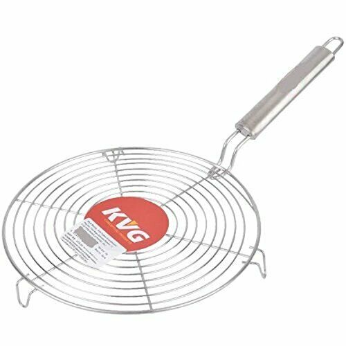 1pc Stainless Steel round Roasting Papad Roti Jali Chapathi Grill steel handle