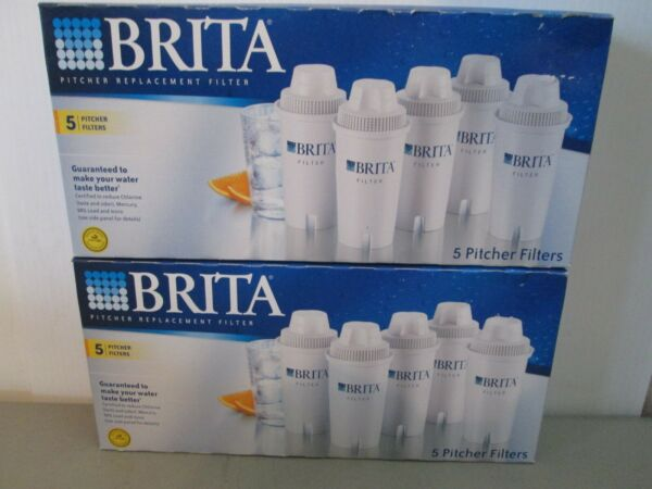 2 LOT BRITA PITCHER WATER FILTERS 10 Filters