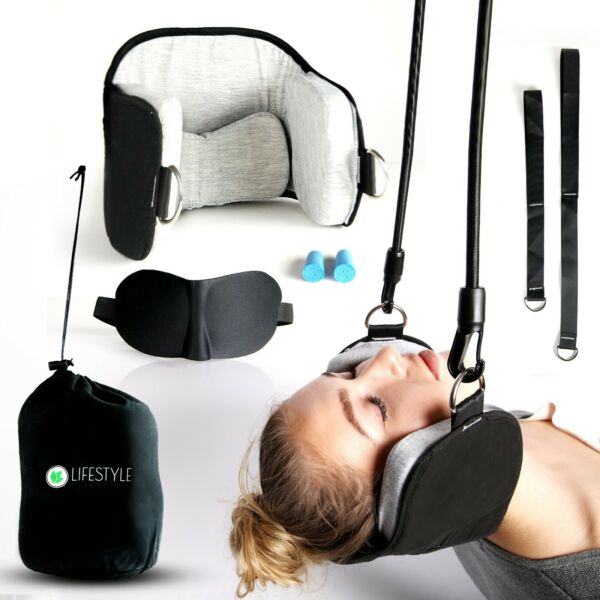 Head Hammock for Neck amp; Headaches Pain Relief Cervical Traction Stretcher w Gift $12.00