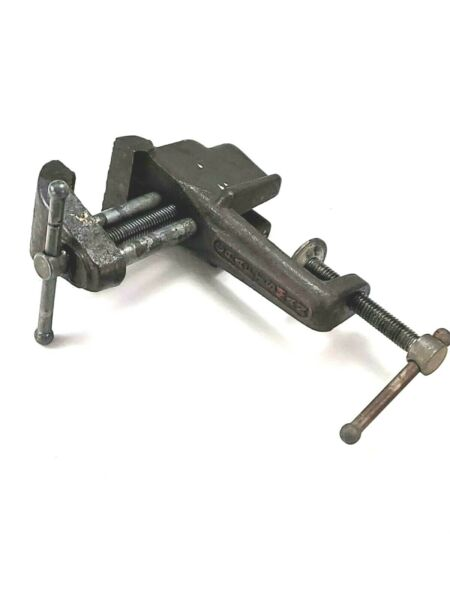 Vintage Hand Tool Craftsman Mini Clamp on Bench Vise 5245 2 Jewelers 1 3 4quot;Jaws