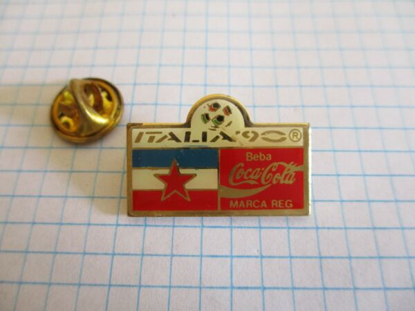 FLAG YUGOSLAVIA DRAPEAU YOUGOSLAVIE PIN BADGE FOOT COCA VINTAGE PINS us4 4