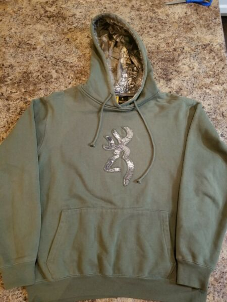 Browning Hooded Sweatshirt Mens Size Large Hunting Camo