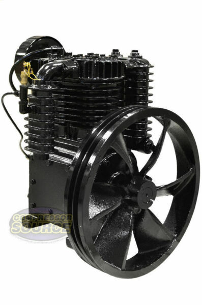 5 HP Horsepower Cast Iron 2 Stage Air Compressor Pump Industrial Two Stage CI5 $829.95