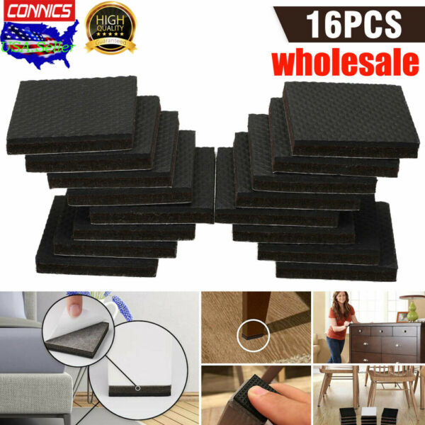 16pcs Non Slip Felt Pads For Furniture Floor Protectors Table Chair Feet Leg $6.99