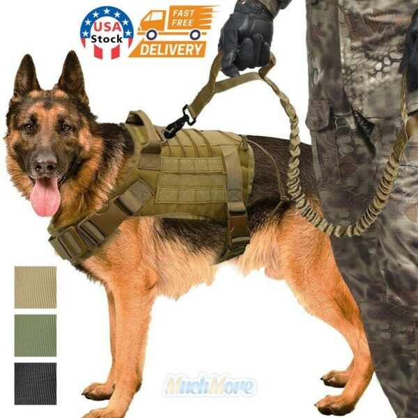 Tactical Dog Harness with Handle No pull XL Large Military Dog Vest Working Dog $21.75