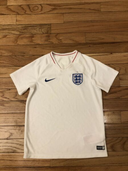 Team England Authentic Nike Toddler Soccer Jersey Size L 6 7 $34.99