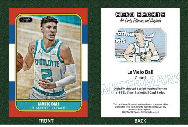 2020 21 LaMelo Ball 1986 Style Art Editions amp; Originals Card Hornets Rookie RC