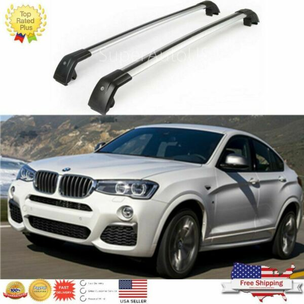 Top Roof Rack Fit For BMW X4 F26 2014 2021 Baggage Luggage Cross Bar crossbar $119.99